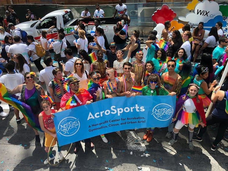 AcroSports at the 2018 San Francisco Pride Parade!